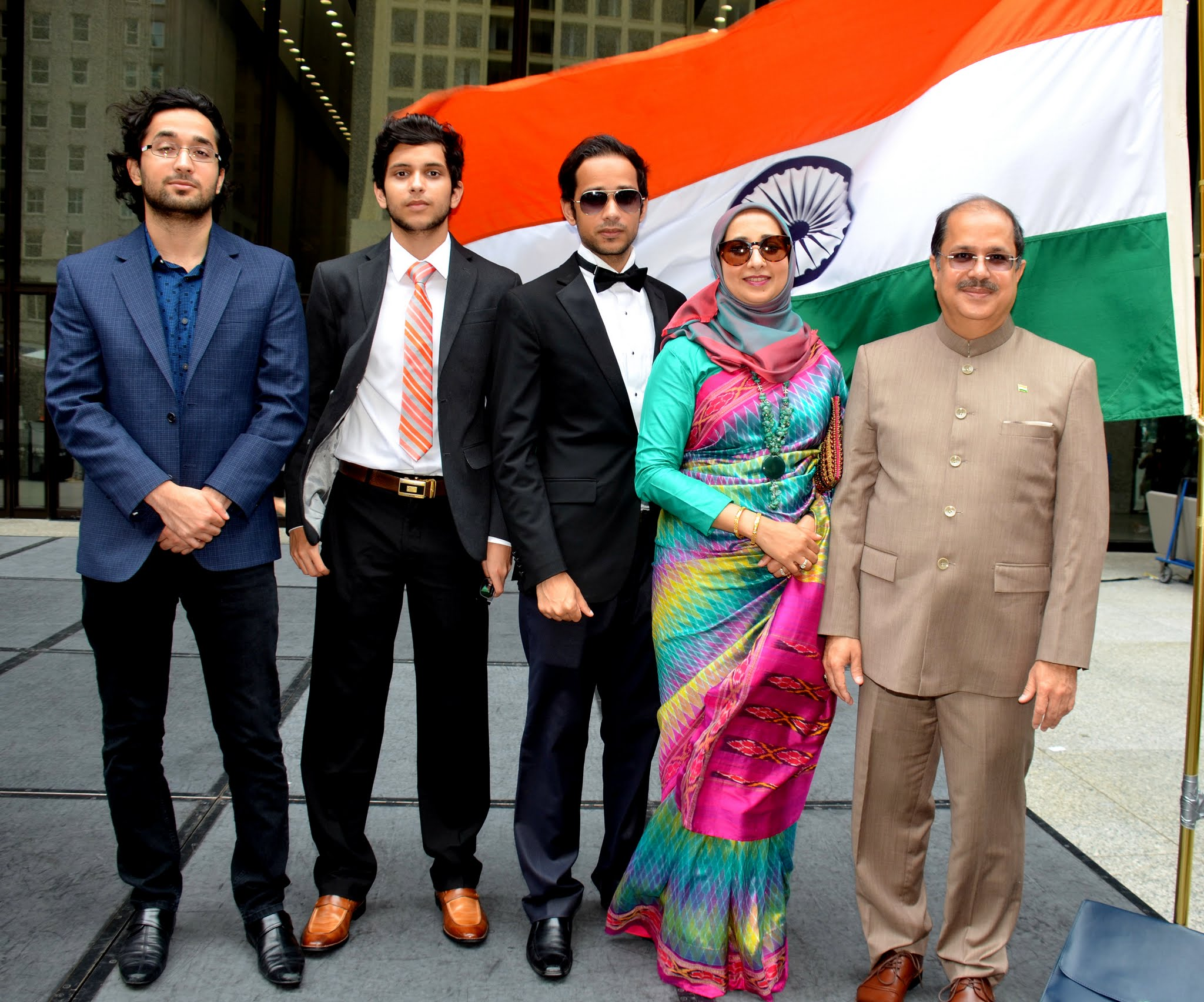 Dr Ausaf Sayeed with his family during Independece Day Celebrations 2016
