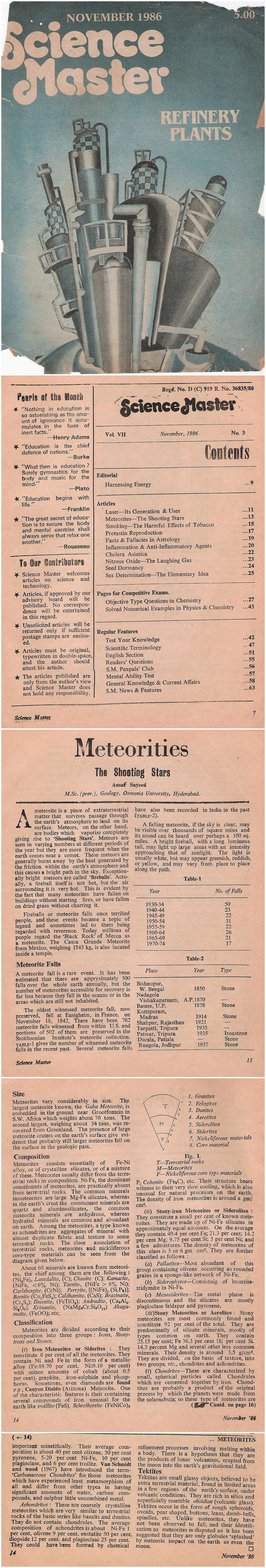 Meteorites - Science Master